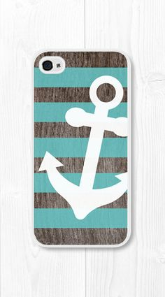 striped Anchor iPhone case