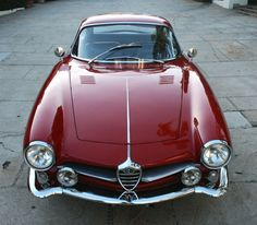 A 1959 Alfa Romeo Giulietta SS (Sprint Speciale). Designed by Franco Scaglione for Bertone.