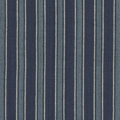 Bungalow Stripe - Indigo - Blue & White - Fabric - Products - Ralph Lauren Home - RalphLaurenHome.com