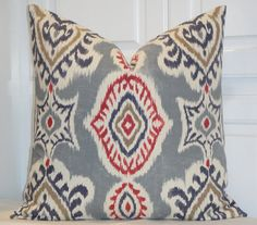 FREE SHIPPING  IKAT Decorative Pillow Cover by TurquoiseTumbleweed