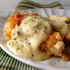 Receta de pollo crujiente con queso