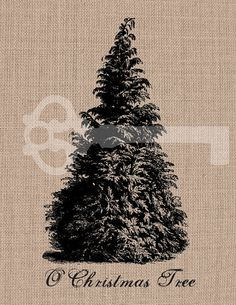 Oh Christmas Tree  digital download Image by TanglesGraphics, $1.00