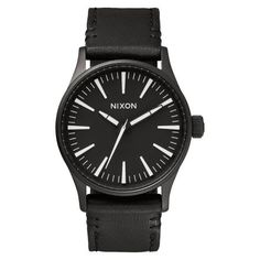 Montre Nixon The Sentry 38 Leather / Black White A377005