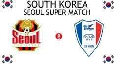 1996, South Korea (1st SEOUL SUPER MATCH), FC Seoul < > Suwon Samsung Bluewings #FCSeoul #SuwonSamsungBluewings #SouthKorea (L8391) South Korea Seoul, Suwon, Blue Wings, Sports Logos, Football Match, Derby, Logo Design, Samsung, Cards