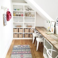 My favorite two weeks each year are the @uvparade weeks. And I really love peeking into other people's dream craft rooms. And I LOVE this one designed by @houseofjadeinteriors. Those huge skylights have me swooning! #interiordesign #craftroom #uvparade