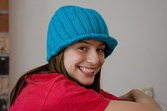 Free Knitting Pattern - Hats: Billed Beanie  I made this one for Lezelle in black