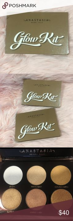 Anastasia Beverly Hills - Glow Kit Anastasia Beverly Hills - Glow Kit  Never used, in perfect condition. Gorgeous highlighter palette. Purchased from Macy's & received the same as a gift. My loss is your gain!  Comes from a clean and smoke free home Thanks for looking! Anastasia Beverly Hills Makeup