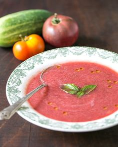 Watermelon Gazpacho...yum!!