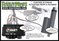 FrightProps Support & Training Center - Control a Linear Actuator from a PicoBoo Halloween Animatronics, Lift Table, Linear Actuator, Haunted House Props, Prop Making, Outdoor Decorations, Outdoor Halloween, Training Center, Car Audio