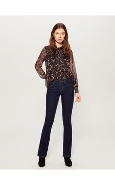 LADIES` JEANS TROUSERS, TROUSERS, niebieski, MOHITO High Waisted Flares, Trousers, Pants, Ikon, Farmer, Ladies Jeans, Lady, Fashion, Moda