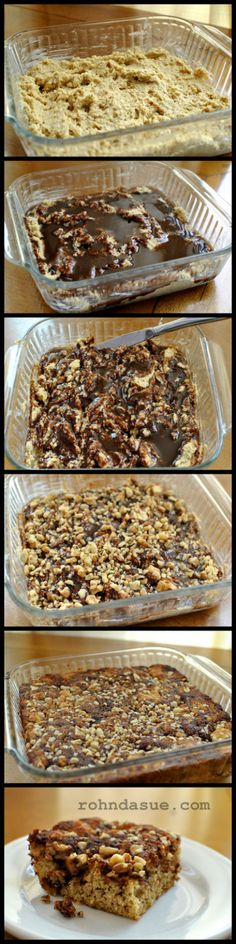 Coffee Cake - using a combo of Flax, Coconut Flour and Almond Flour - 2 net carbs/serving
