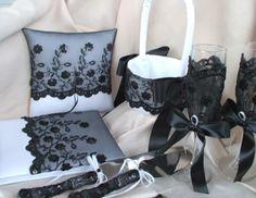 Black White Wedding Contemporary Modern Vintage Centerpiece Decor Accessories