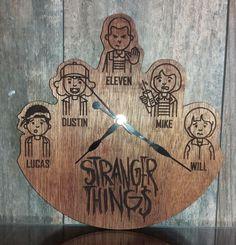 Items similar to Stranger Things clock, Wood Clock, Gifts for Her, Gifts for Him on Etsy Wood Clocks, Stranger Things, Gifts For Him, My Etsy Shop, Nerd, Fantasy, Check, Strange Things, Imagination