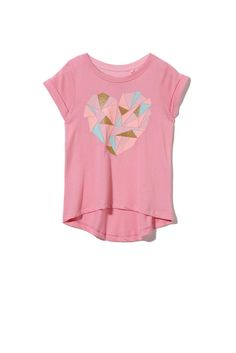 Penelope SS Tee, SWEET BLOSSOM/CRYSTAL HEART AND PIECES