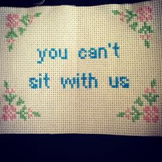 Now that @beccabrincat has received this present i can share it! Look how great this cross stitch is, glad you loved it  #wip #crossstitch #xstitch #meangirls