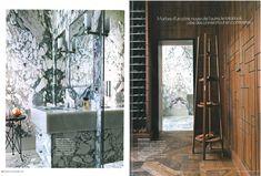Cadre de porte et dressions / Franz Potisek - Elle Déco Nov 2015 Best Design Books, Elle Decor, Decoration, Oversized Mirror, Cool Designs, Frame, Furniture, Designer, Bathroom Green