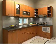 Tủ bếp Veneer Xoan Đào TB10