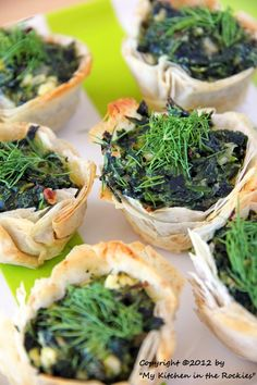 Spanakopita Cups Appetizer Recipe Colorado Denver Foodblog German recipes My Kitchen in the Rockies | A Denver, Colorado Food Blog