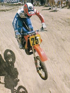 RJ Rick Johnson 1986 500 USGP, Carlsbad.  I believe this was the RC500, last year.  Photo courtesy of Vintage Factory