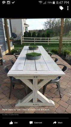 Outdoor table patio farmhouse