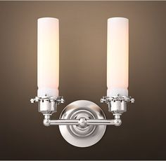 Edison Milk Glass Double Sconce