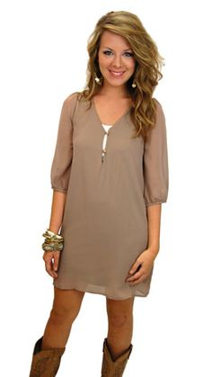 Morgan Dress, Taupe