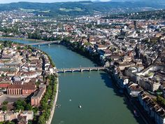 Basel Switzerland and the Rhine River