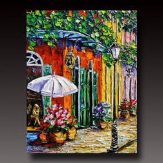 NEW ORLEANS Painting B. Sasik Original Oil Painting por bsasik