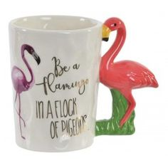 Porcelán bögre Flamingós füllel Flocking, Mugs, Tableware, Dinnerware, Tumblers, Tablewares, Mug, Dishes, Place Settings