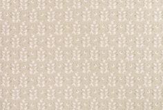 Ashcroft Sable Leaf Linen Mix Fabric