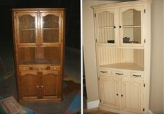 Покраска старого кухонного шкафа - буфета