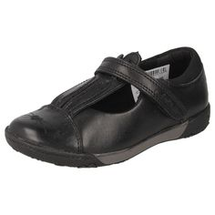 GIRLS CLARKS LEATHER BLACK SHOES STYLE - NIBBLESJIB INF