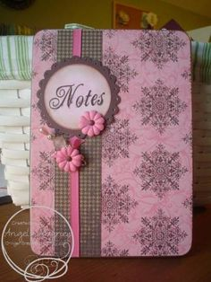 Pink and Brown Sophisticated DVD Notebook