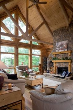 Photos - Timberhaven Log & Timber Homes - Log Homes, Log Cabins, Custom Designed – Timberhaven Log Homes – Log Home Gallery -