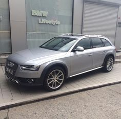 Silver Audi Allroad with Rotiforms