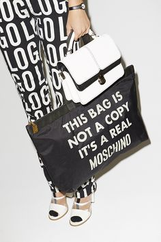 Moschino Not A Copy Tote #nastygalvintage