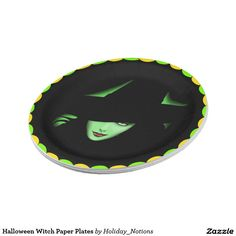 Halloween Witch Paper Plates 7 Inch Paper Plate