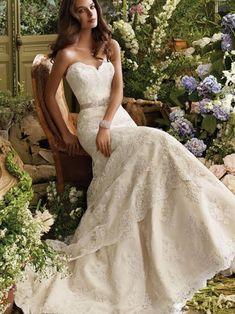 lace a line wedding dresses