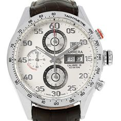 15910 Tag Heuer Carrera Day-Date Silver Dial Mens Watch CV2A11 SwissWatchExpo