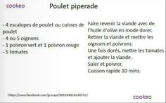 poulet piperade cookeo