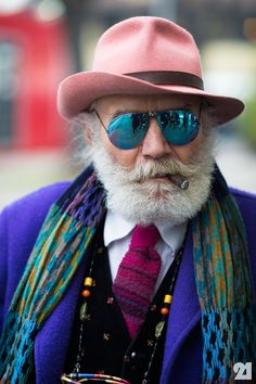 stylish older man - wow!