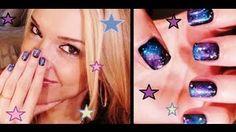galaxy nails!!  miss jen fabulous nails - YouTube