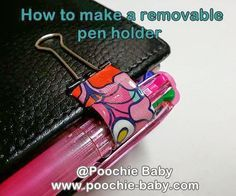 How to make a removable or detachable pen holder for your Filofax planner. #planning #calendar #PenLoop