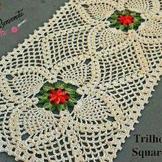 Crochet Table Runner Pattern, Free Crochet Doily Patterns, Crochet Tablecloth, Crochet Squares, Crochet Motif, Crochet Doilies, Crochet Baby, Hairpin Lace Patterns, Beginner Crochet Tutorial
