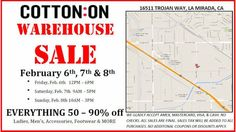 Cotton On Warehouse Sale - CA - February 2015