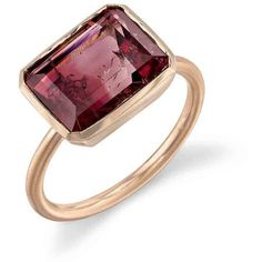 Irene Neuwirth Bi-Color Tourmaline Ring - Rose Gold (1.439.935 CRC) ❤ liked on Polyvore featuring jewelry, rings, 18 karat gold ring, 18k ring, band jewelry, handcrafted jewelry and red gold ring