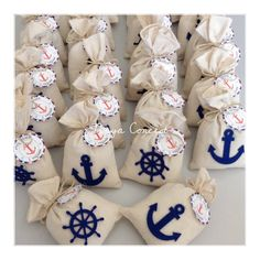 Marine Themed Lavender Pouches / Marine Themed L . - Gifts For Love Lavender Bags, Lavender Sachets, Baby Shower Parties, Baby Boy Shower, Deco Theme Marin, Sailor Party, Nautical Baby, Baby Boy Rooms, Baby Shower Decorations