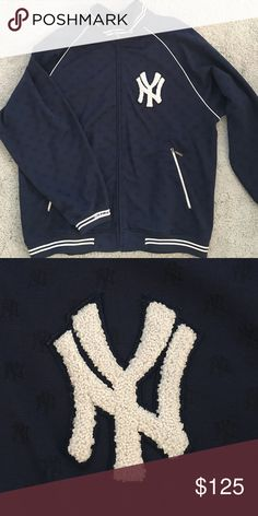 New York Yankees Track Jacket - Men's Men's New York Yankees Track Jacket - Influenced by versions worn in the dugouts, these heat-up jackets are a great way to preserve heat. New York Yankees symbol on chest, Full Zip-Up - LIKE NEW! Mitchell & Ness Jackets & Coats