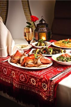 #ramadan Iftar Setting and food.