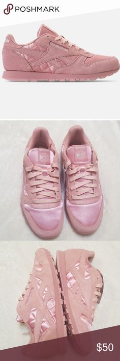 fb3fbc039c3  SALE  Pink Reebok Classics KIDS size but fit like all my adult classics  size I love these sneakers and own a ton of them. Highly recommended in  terms of ...